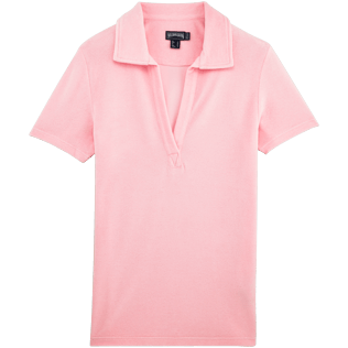 Frauen Polos Uni - Solid Frottee-Polohemd für Damen, Peony front