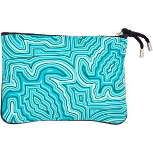 Others Printed - Zipped Beach pouch Hypnotic Turtles, Curacao back