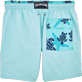 Men Classic / Moorea Solid - Starlettes et Turtles Bicolor Swim shorts, Lagoon back