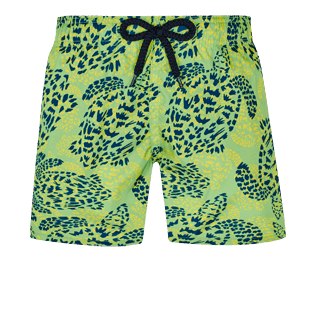 Boys Others Printed - Boys Swim Trunks Ultra-Light and Packable Jungle Turtles, Grass green front