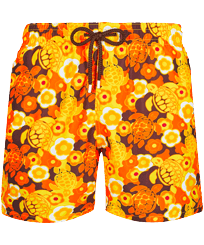 Men Classic Printed - Men Swimwear 1976 Sun Turtles, Lemon front