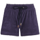 Women Others Solid - Women Terry cloth shortie Solid, Midnight blue front