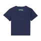 Boys Others Embroidered - Boys Cotton T-Shirt embroidered pattern, Navy back
