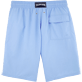 Men Long classic Solid - Solid Long Cut Swim shorts, Sky blue back