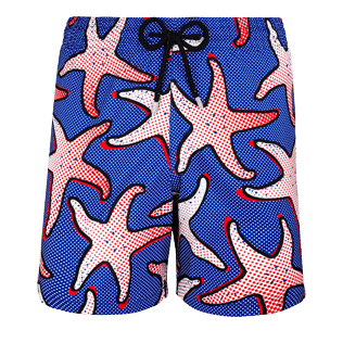 Men Ultra-light classique Printed - Men Lightweight and Packable Swimwear Starfish Art, Neptune blue front