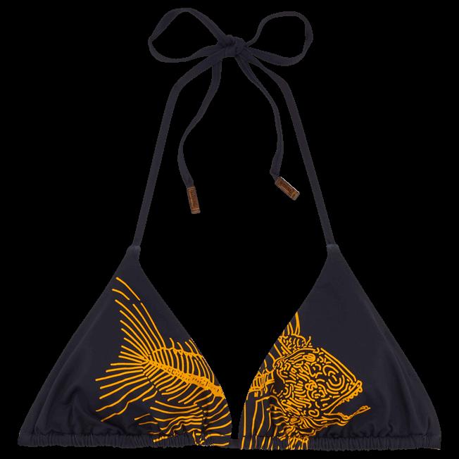 Vilebrequin - Prehistoric Fish Triangle shape bikini top - 1