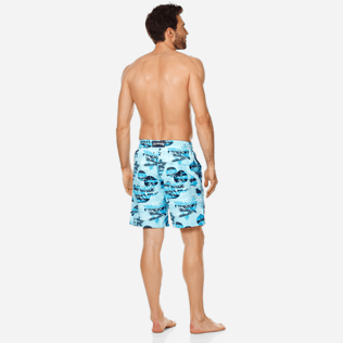 Homme CLASSIQUE LONG Imprimé - Maillot de Bain Homme Long Ocean Currents, Horizon backworn