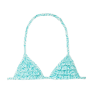 Girls Others Printed - Girls Bikini Top Hypnotic Turtles, Lagoon front