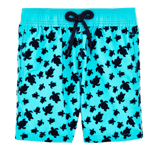 Boys Others Printed - Boys Swimtrunks Flocked Micro ronde des tortues, Curacao front