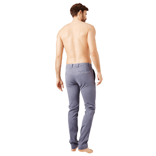 Men Others Solid - Men Slim chino Pants, Grey backworn