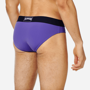 Men Swim brief and Boxer Solid - Men Swim Brief elastic belt solid, Hyacinth supp1