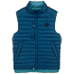 Others Printed - Unisex Reversible Sleeveless Down jacket Micro Turtles, Spray front