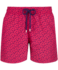 Men Classic Printed - Men Swim Trunks Micro ronde des tortues, Gooseberry red front