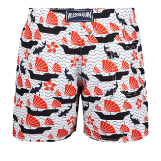 Men Classic Printed - Men swimtrunks Hong Kong - Web Exclusive, White back