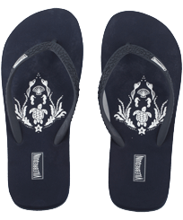 Women Others Printed - Women Flip Flops Pranayama, Navy front