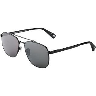 Sunglasses Solid - Unisex Sunglasses Polarised Smoke Matt, Black back