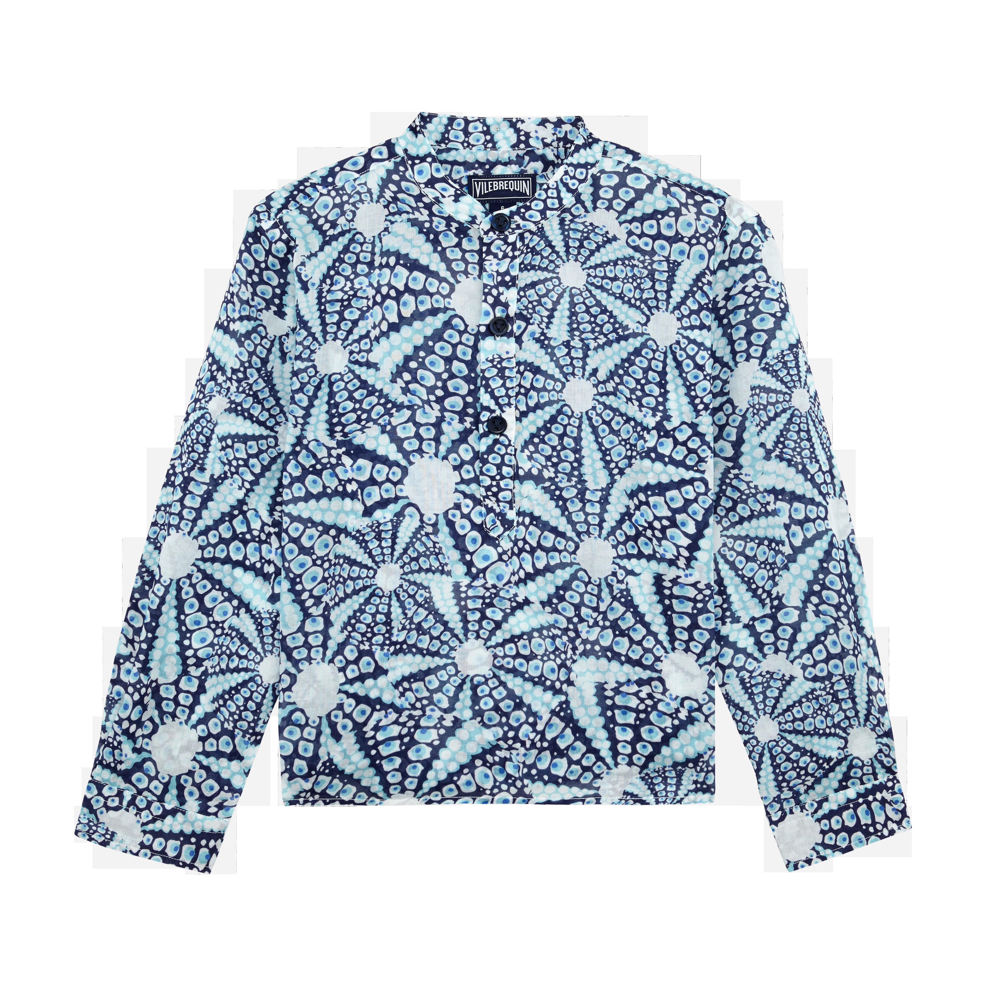VILEBREQUIN | Boys Ready to Wear - Boys Cotton Voile Shirt Oursinade - SHIRT - JOMAO - Blue - 14 - Vilebrequin | Goxip