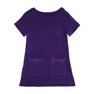 Girls Others Solid - Girls Terry Cloth Dress Solid, Amethyst front