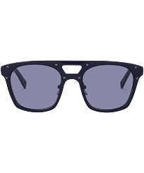 Others Solid - Unisex Sunglasses Shiny Blue Lenses, Navy front