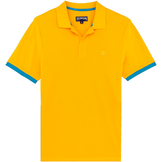 Men Others Solid - Men Cotton Pique Polo Shirt Solid, Mango front