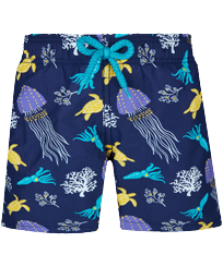 Boys Others Printed - Boys Swimwear Solid, Sapphire front