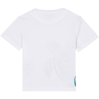 Boys Others Printed - Boys Cotton T-Shirt Tortue Aquarelle, White back