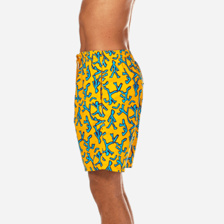 Men Long classic Printed - Danse du Feu Long Cut Swim shorts, Turmeric supp3