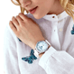 AUTRES Uni - Montre 43mm Stries, Blanc backworn