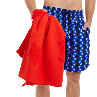 Others Solid - Beach Towel Fouta Jacquard Tortues, Poppy red supp3
