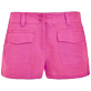 Women Others Solid - Women linen bermuda shorts solid - Vilebrequin x JCC+ - Limited Edition, Pink polka front