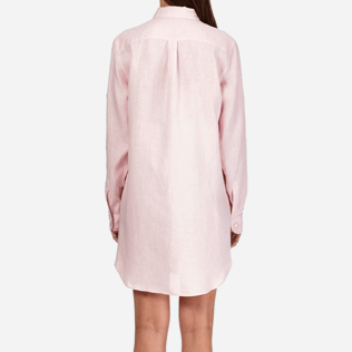 Women Others Solid - Women Long Linen Shirt Solid, Peony supp2