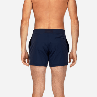 Men Short Solid - Smoking Tuxedo fitted Swim shorts, Navy supp2