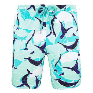 Homme CLASSIQUE LONG Imprimé - Maillot de bain Stretch Homme Magic Whales, Lagon front