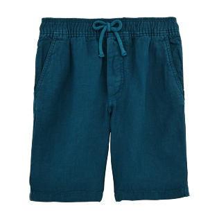 Boys Others Solid - Boys Linen Bermuda Shorts Solid, Spray front