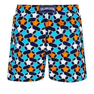 Men Classic Printed - Men Swim Trunks Turtles Stars, Navy back