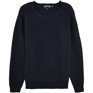 Men Sweaters Solid - Cotton Linen Pull Over, Jeans blue front