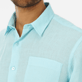 Men Others Solid - Men Linen Shirt Solid, Aquamarine supp1