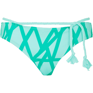Women Classic brief Graphic - Women Bikini Bottom Covering Brief Ribbon Bicolor, Veronese green front