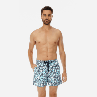 Men Classic Printed - Men swimtrunks Oursinade, Navy frontworn