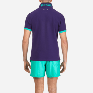 Men Others Solid - Men Cotton Pique Polo shirt Solid, Amethyst supp2