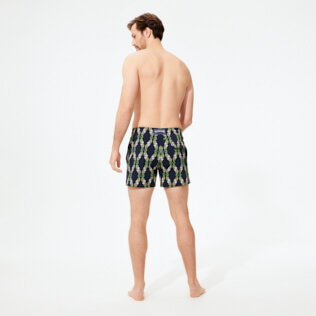 Uomo Classico stretch Stampato - Costume da bagno uomo stretch Sweet Fishes, Blu marine backworn