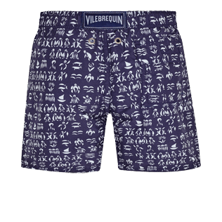 Boys Others Printed - Boys Swim Trunks Fortune Teller Turtles, Midnight blue back