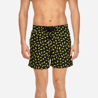 Men Embroidered Embroidered - Men Swimtrunks Embroidered Mini Fish - Limited Edition, Black supp1