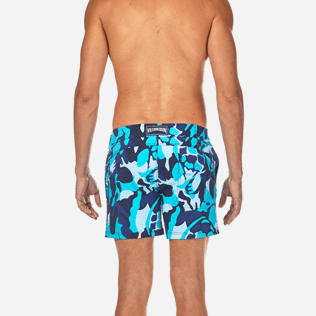 Men Flat belts Printed - Camouflage Turtles Fitted cut Swim shorts, Azure supp2