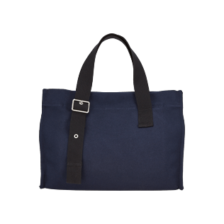 Others Solid - Small Cotton Beach bag Solid, Navy back