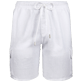 Men Others Solid - Men Cargo Linen Bermuda Shorts Solid, White front