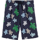 Men Long Printed - Multicolor Turtles Long Cut Swim shorts, Navy front