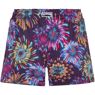 Women Others Printed - Women Swim Short Fireworks, Navy back