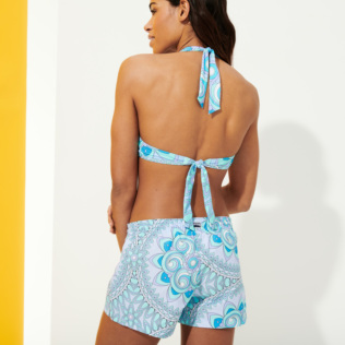 Women Others Printed - Women Swim Short Mandala, Lagoon backworn