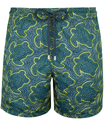 Men Embroidered Embroidered - Men Swim Trunks Embroidered Hypnotic Turtles - Limited Edition, Spray front